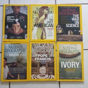 Rare copies of National Geogtaphic magazines (6)